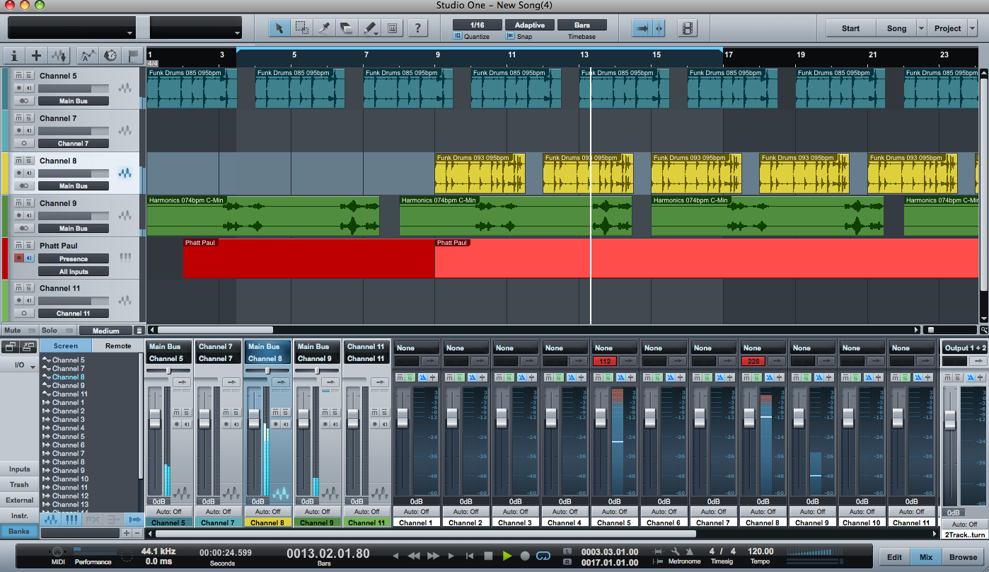 תוכנת הקלטה בגרסה חינמית Studio One