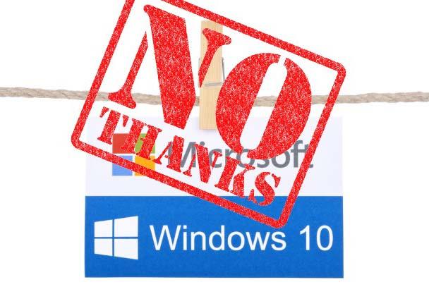 לא רוצים windows 10